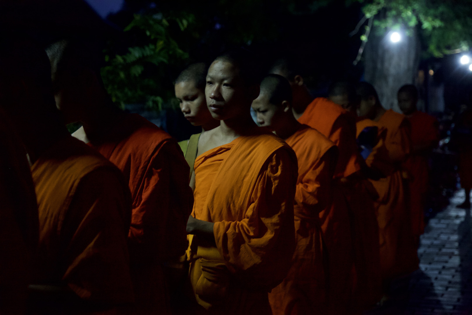 Buddhist monks in Luang Prabang